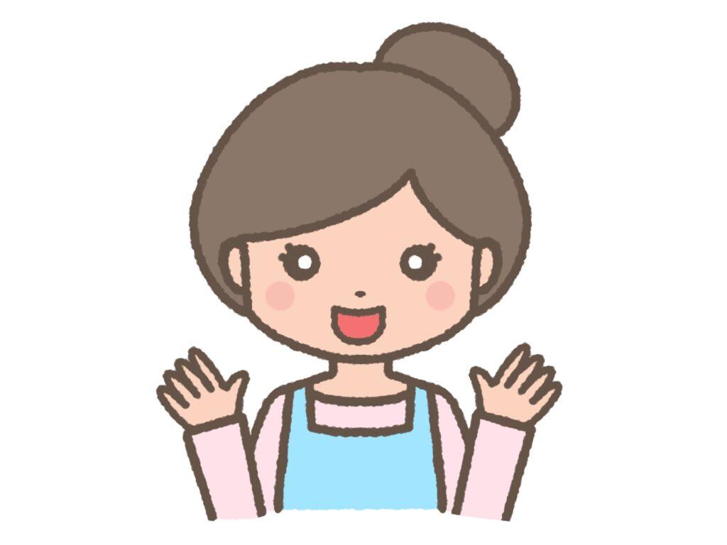 中年女性の正面画像