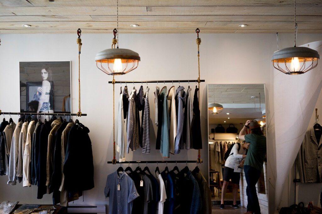 メンズファッションのお店の画像